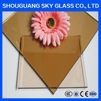 2-19mm Clear/Ultra Clear/Bronze/Green/Blue/Grey Reflective Glass Tempered Tinted Glass For Windows