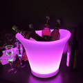 hot sale plastic led ice bucket for bar party
