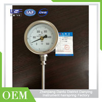 In/Out Thermometer Clock Smart Oil Filled Pressure Gauge