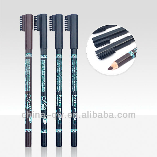 Menow P10021 high quality wooden pencil eyebrow pencil with brusher cap