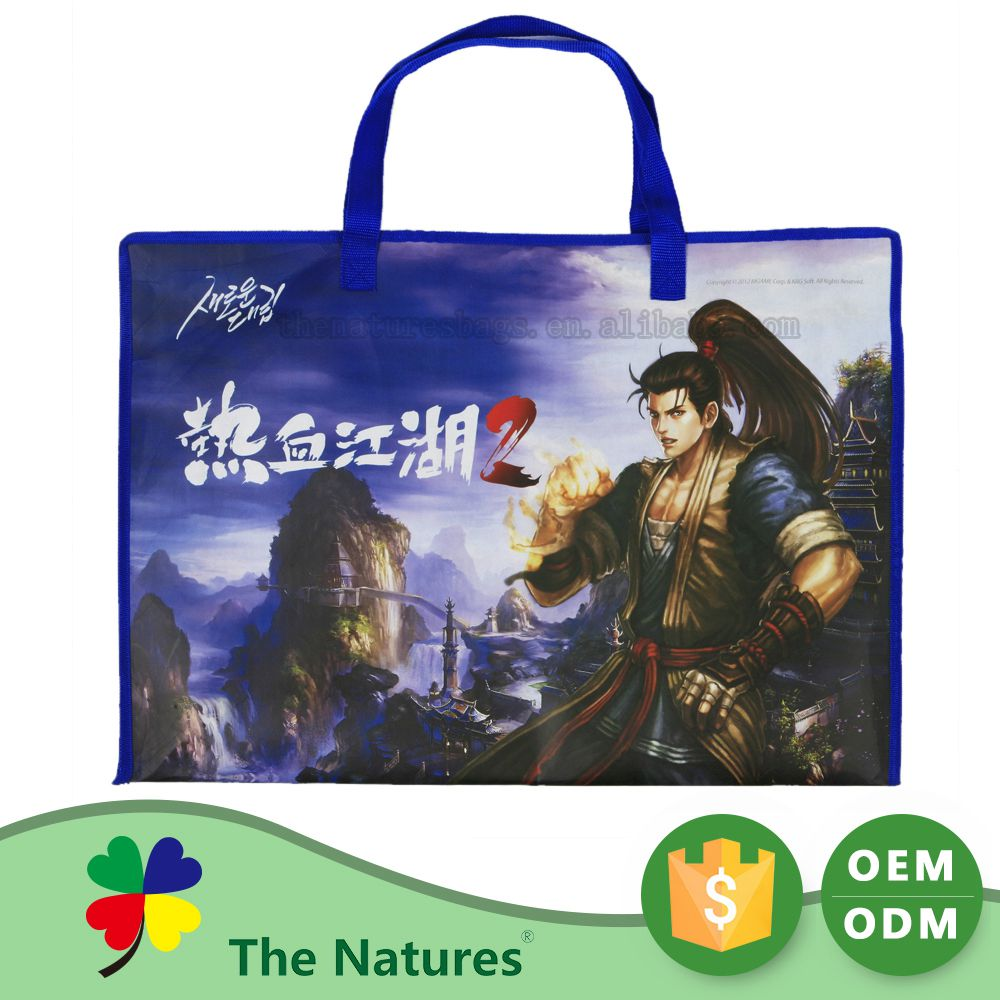 Custom Tailor Non Woven Foldable Long Thin Plastic School Bag