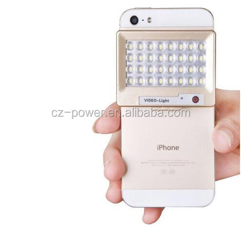 S60 Mini 32 LED Powerful 5600K Photo Video Light for Camera / iPhone 5 / Samsung / Other Mobile Phones(Gold)