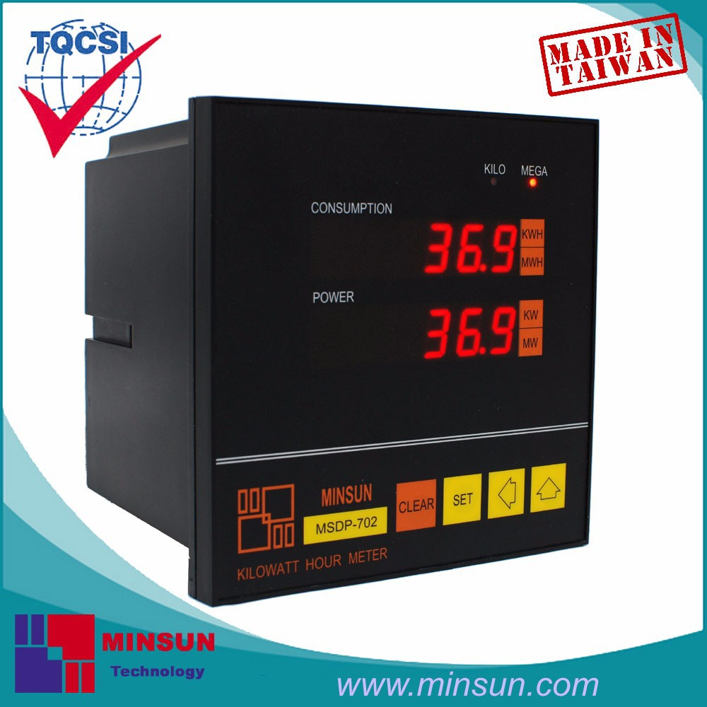 MSDP-702 LED Display Digital KWH Meter with Pulse Output