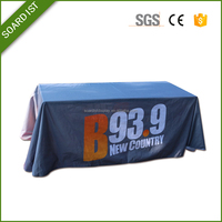 6ft 8ft Spandex logo printed stretch table cover