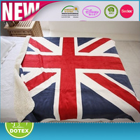 150 x 200cm UK Flag Flannel Blanket Cozy Coral Fleece Bedding Article SAU