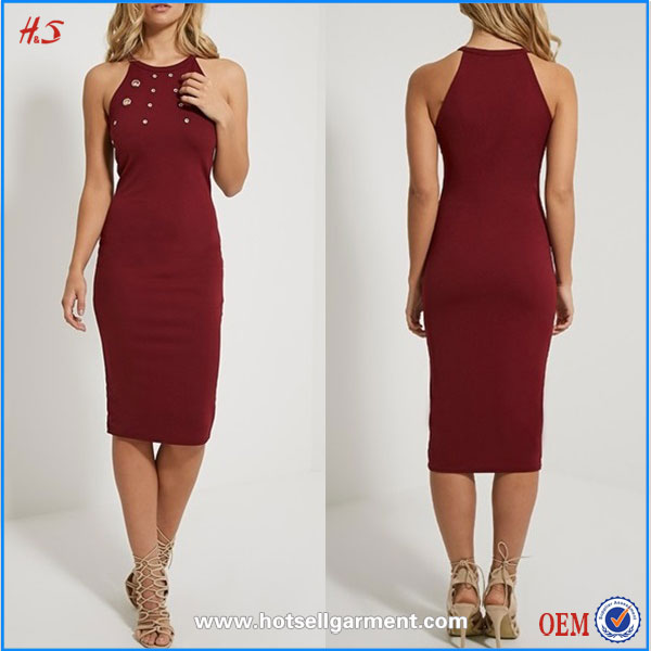Latest fashion women's clothing manufacturer all types of ladies dresses midi dress