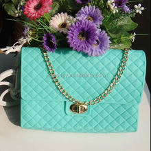 2015 candy color wholesale ladies shopping bag silicon shoulder bag