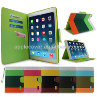 shenzhen comapny hydrid wallet PU leather case for ipad air , for ipad air cover case