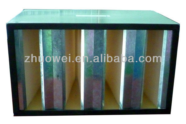 HVAC Hepa Air Filter Galvanized Steel Frame