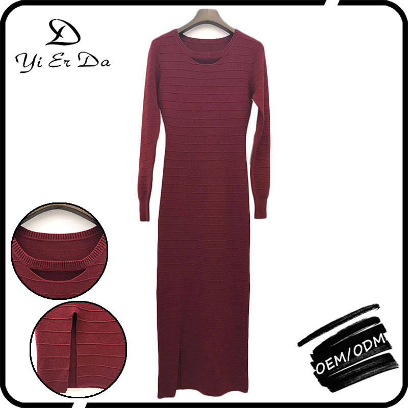 New Fall And Winter Clothes Hot Sale Red Sweater Dress