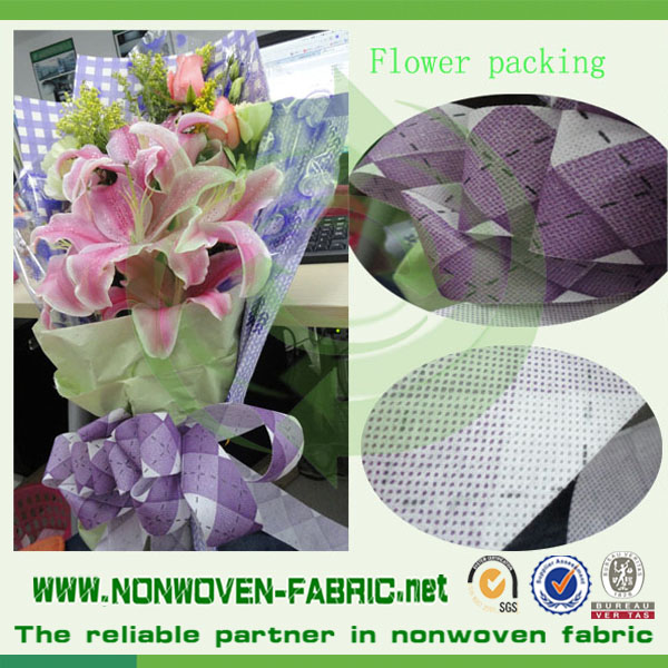 Hot Selling PP Spunbonded non Woven Fabric Bags Furniture Flowers Wapping Printed Nonwoven Fabric