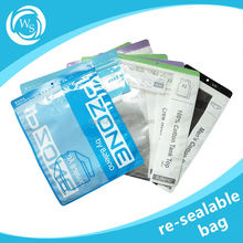 three seal vacuum packaging nylon materials for home food used plastic resealable bags