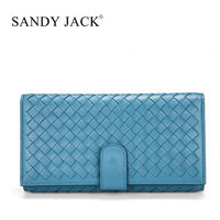 Wholesale Amazing Women Leather wallet in grey blue Clutch purse for Samgsung I9500 Cover Handmade wallet