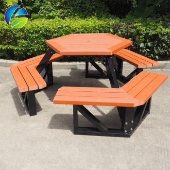 8 Years Warranty Outdoor Table Outdoor Plastic Wood Table  , Camping Picnic Table and Chair