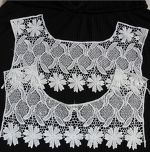 Good Supplier High Quality Beautiful Embroidery Lace Neck Designs for Garment