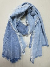 17ss solid cotton woven muffler & scarf with 100%cotton
