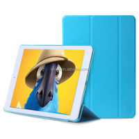 Three folder pu leather smart case coer for IPad air 2,smart case cover for ipad mini 2