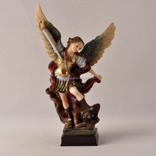 lifelike figure archangel-michael in resin religious crafts