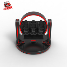 Red and black 1/3 seats 360 degree 9d egg vr+360 degree electric 3 seats 9d vr egg cinema