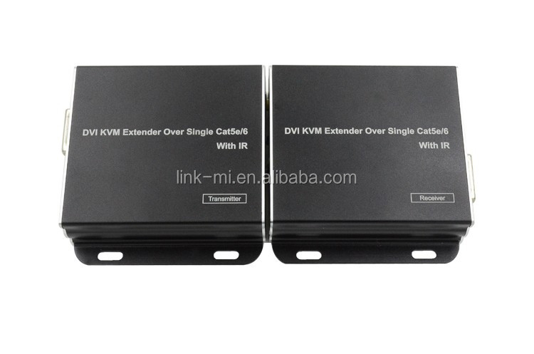 LINK-MI LM-KVM01 DVI KVM Extender Over 50m Support infrared control signal pass through via LAN