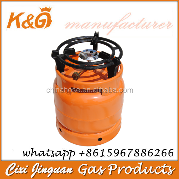 Empty Gas Steel Cylinder with Camping Valve Portable Burner Parts Filling LPG Large Capacity 6KG China Manufacturer Wholesale
