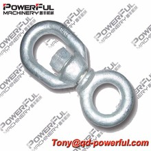Us Type Drop Forged Carbon Steel Stainless Steel Hot Dip Galvanized G401 Chain Eye And Eye Swivel For Lifting Usage Zinc Plated