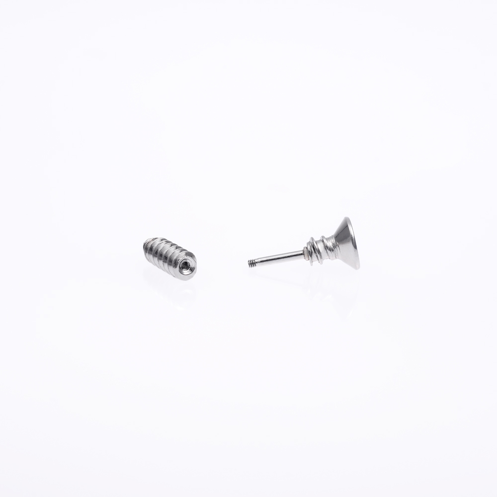 Cheap stainless steel fake gauge earrings screw shaped faux plug stud wholesale