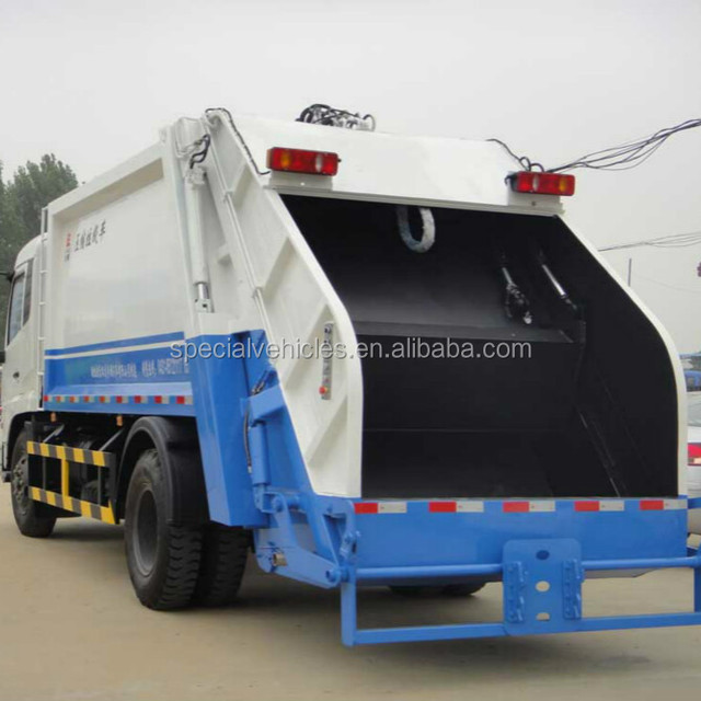 2018 new dongfeng hydraulic garbage truckdustcart bin loader type refuse compactor trucks 10 tons