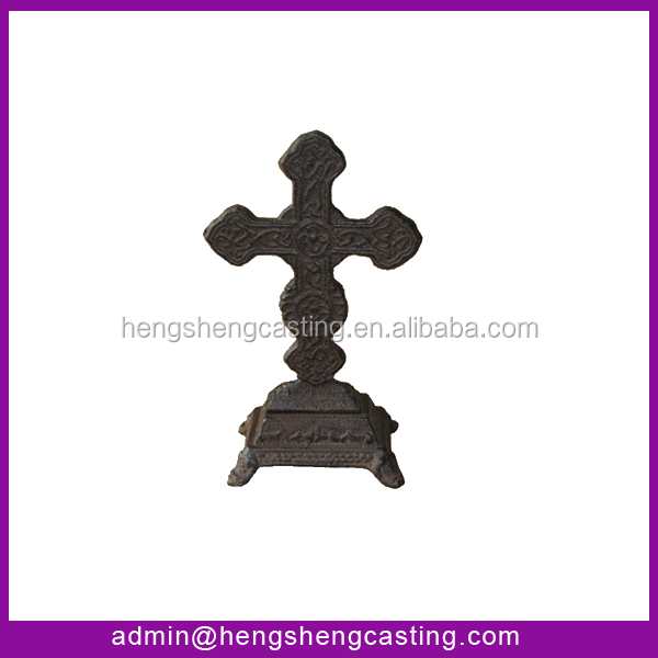 Antique plated small metal cross