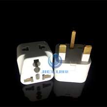 WDI-7 Grounded Universal 1 TO 2 Plug Adapter Type G for UK, Hong Kong, Singapore & more - High Quality - CE Certified - RoHS