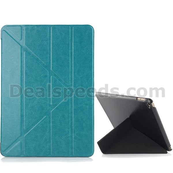Transformer Crazy Horse Tri-Fold Leather Stand Smart Case Cover For iPad 2/3/4