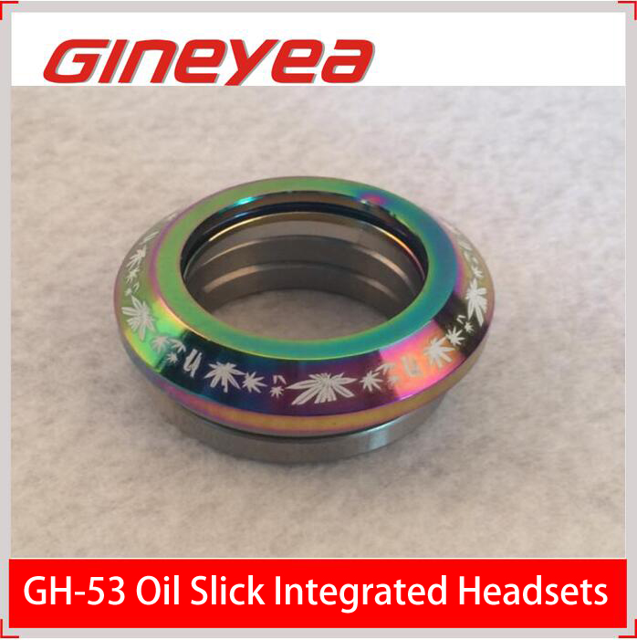 "Gineyea GH-53 1-1/8"" Oil slick integrated threadless bicycle headsets for MTB"