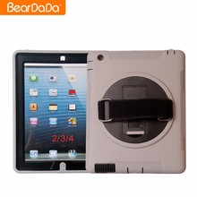 Super Luxury 360 Degree Rotating hand strap case for ipad 2