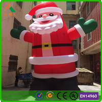 Cheapest christmas decoration supplies 20ft christmas inflatable santa/ santa claus