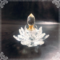 lotus flower crystal perfume bottle for home decoration