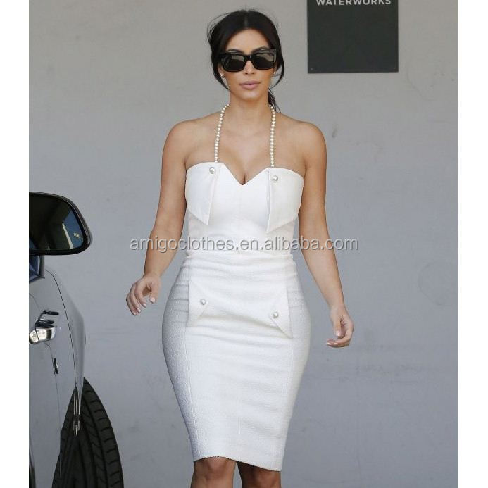 Latest European high-end gown designs european stylish bandage dress