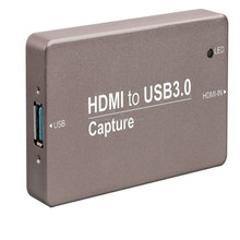 Portable Real plug and play USB 3.0 HD Video Capture for Live Streaming with Metal Housing