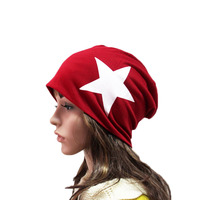 SHENGMING Red Winter Warm Knitted Hats