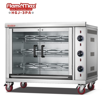 HGJ-3PA Hot Sale Good Price Gas Rotate Chicken Rostisserie/Chicken Rotisserie Machine/Rotisserie Chicken Gas Oven