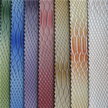 hot sell animal skin leather Snakeskin pvc synthetic leather for bags,cases,luggage