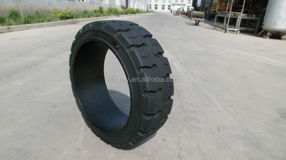 Quality Assured 16x5x101/2 Press On Band Forklift Solid Tyres, airless OTR tires from WonRay