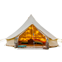 Waterproof Outdoor Camping Cotton Canvas 5m Bell <strong>Tent</strong> Teepee Yurt Glamping <strong>Tent</strong>