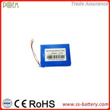Deep cycle 3.7v 2100mah 523450 lithium ion polymer china mobile battery