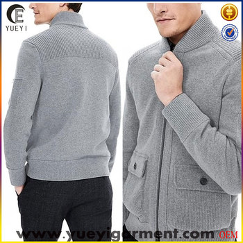 mens shawk neck zip up cardigan sweater jacket