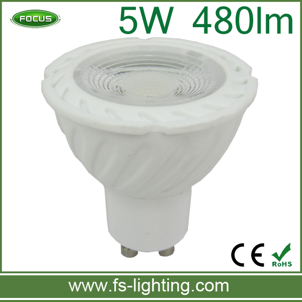 gu10 fitting 5w led gu10 cob warm white yellow led lights with isolated casing