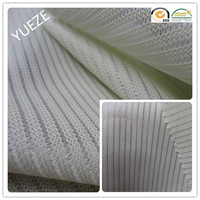 polyester yellow blue white stripe knitted fabric