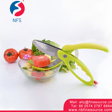 Vegetable Salad Scissors Tongs Fruit Salad Tools Chopper Cutter Salad Maker