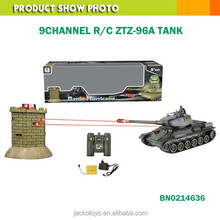 1:28 scale infrared fight China ZTZ-96A RC tank VS Blockhouse