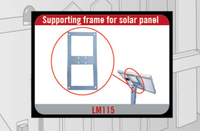 home use aluminum supporting frame for solar panel frame