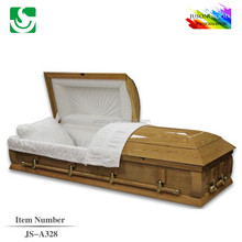 JS-A328 cremation selling to funeral home wooden casket bed